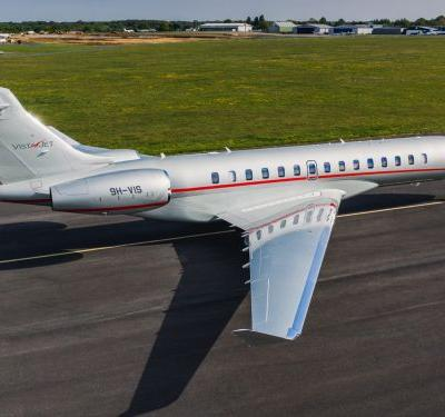 VistaJet is about to take delivery of its first charter-ready Bombardier Global 7500, a $70 million ultra-long-range private jet that can fly 7,700 nautical miles - see inside