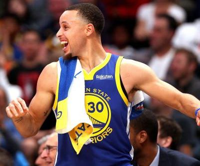 Warriors score NBA-record 51 points in 1st quarter, rip Nuggets