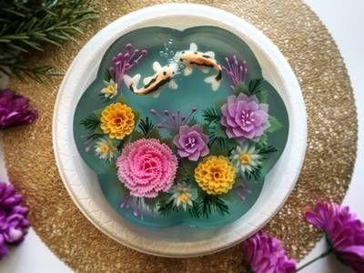 Blooming 3D jelly cakes are made with seaweed