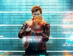 Star-Lord showing obscene hand gesture