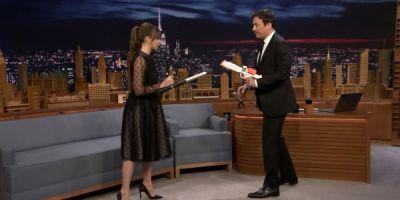 Watch Felicity Jones Almost Smash Jimmy Fallon In The Face During A Star Wars Skit