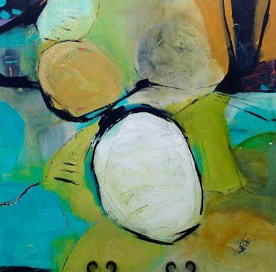 "Abstract Art, Expressionism, Contemporary Painting ""Footloose"" by Contemporary Artist Maggie Demarco"
