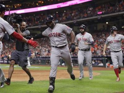 Boston's Bradley blows open Game 3 with slam off Osuna