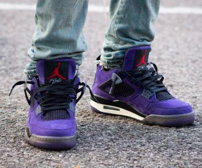 "Our Best Look yet at the Travis Scott x Air Jordan 4 ""Purple"""