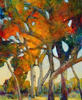 """Contemporary Colorful Landscape Painting ,Mixed Media, Fine Art For Sale, """"I am Your Strength"""" By Passionate Purposeful Painter Holly Hunter Berry"""