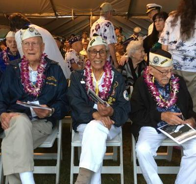 Survivors gathering at Pearl Harbor for attack remembrance
