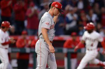 Puig, Bell tossed in Reds' 5-1 loss to Angels