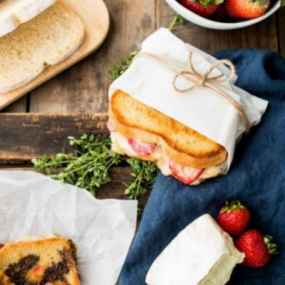 Strawberry Brie Grilled Cheese
