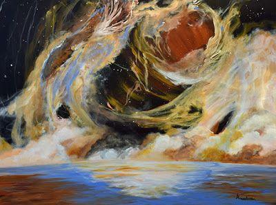 "Contemporary Abstract Seascape Painting ""Precise Mass Disbursement"" by International Contemporary Seascape Artist Arrachme"