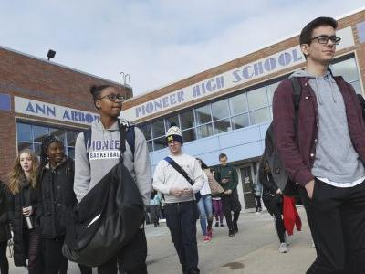 Michigan students join gun violence protest, leave classes