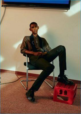 Myles Dominique Dons Louis Vuitton for L'Officiel Hommes Germany