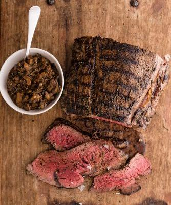 Grilled Beef Tenderloin with Wild Mushroom Mostarda