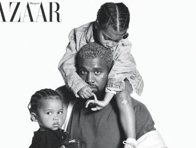 Kanye West, Bruce Springsteen and Their Kids Cover 'Harper's Bazaar''s Icons Issue