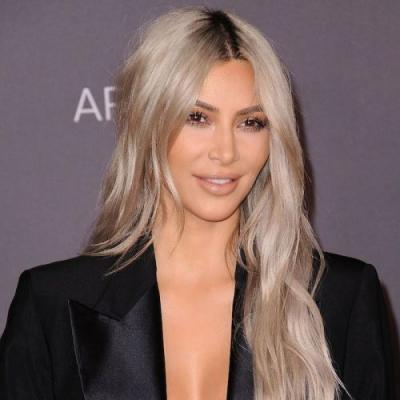 Kim Kardashian Just Debuted Yet Another Lob Haircut, But This Time It's Silver