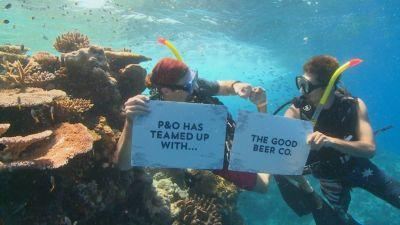 P&O Cruises backs new beer to help Great Barrier Reef