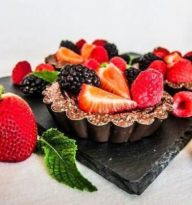 Vegan Summer Chocolate Berry Tartlettes