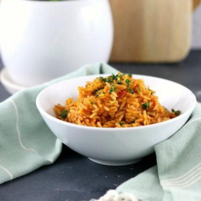 Easy Tomato Basil Rice Side Dish