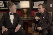 Watch Bono & Former Pres. George W. Bush Bro Down Over U2 Singer's Humanitarian Award