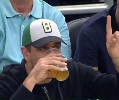 Watch: Packers' David Bakhtiari smokes Aaron Rodgers in beer-chugging competition