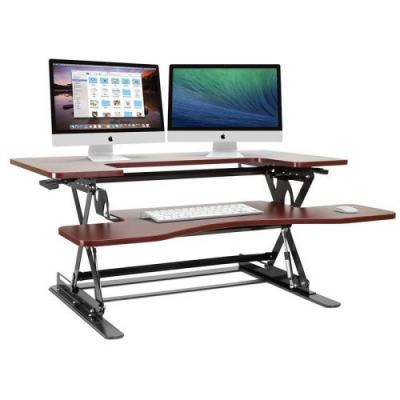 Sit or stand with Halter's discounted adjustable elevating desktop