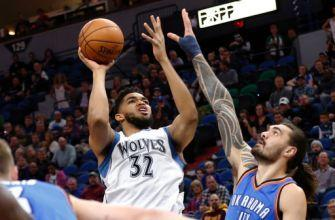 Towns, Rubio lead Wolves to 3rd straight win, 96-86 over OKC