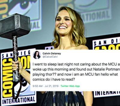 The Tweets About Natalie Portman Playing The First Female Thor Are So, So Hype