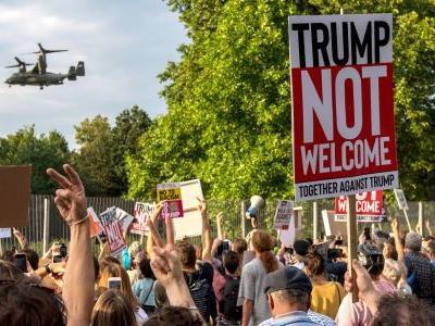 PHOTOS: Brits angrily protest Trump on his first visit to the UK as president