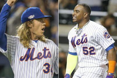Noah Syndergaard comically leads Mets' Cespedes party