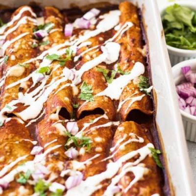 Sweet Po & Black Bean Enchiladas
