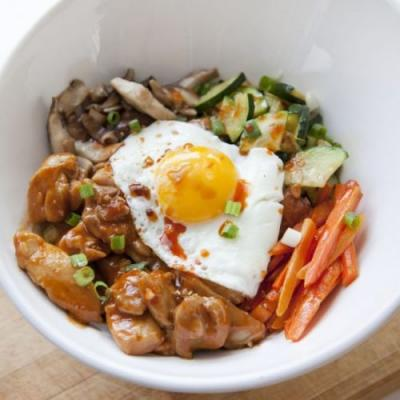 Spicy Chicken Bibimbap