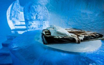 Inside the ICEHOTEL 365, the world's first year-round hotel made of ice