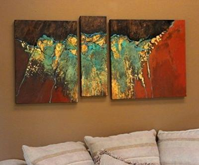 """Mixed Media Abstract, """"Golden Mantle"""" by Mixed Media Artist Carol Nelson Fine Art"""