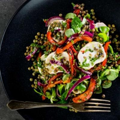 Puy Lentil Salad With Goat Cheese