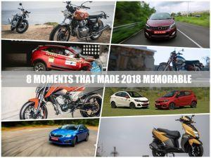 8 Moments That Made Indian Motoring Memorable in 2018