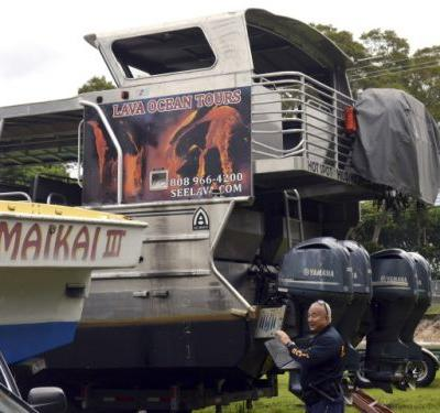 'Everything exploded': Basketball-sized 'lava bomb' crashes through roof of Hawaiian tour boat, hurting 23