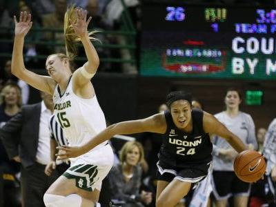 No. 8 Baylor women beat UConn 68-57 for 1st win over No. 1
