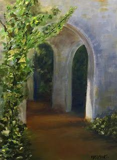Edisto Arches, by Melissa A. Torres, 9x12 oil on canvas panel