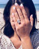 Leah Michele's Massive Engagement Ring Is So Stunning, It's No Wonder She's Crying Tears of Joy