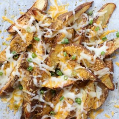 6-Ingredient Cheesy Potato Wedges