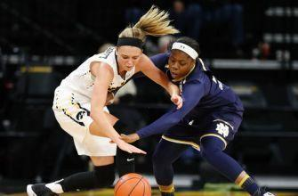 No. 1 Notre Dame tops Iowa 73-58 in ACC/Big Ten Challenge