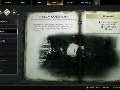 The Boat Captain's Key Treasure Map Location and Solution - God of War