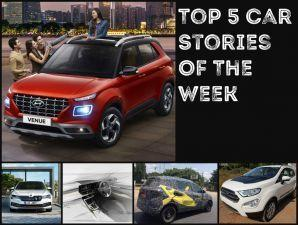 Hyundai Venue Launch EcoSport Thunder Kia SP2 Interiors And More Top 5 Car News Of The Week