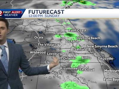 Scattered showers expected Sunday