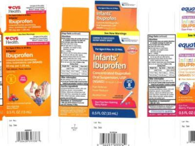 Infant Ibuprofen Sold At Three Major Retailers Is Being Recalled