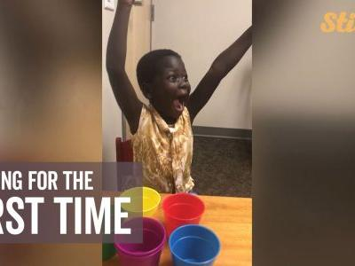 5-year-old hears for first time thanks to sacrifices father made