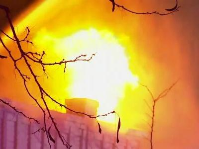 Fire tears through New York shops, injuring firefighters and creating backdraft caught on cam