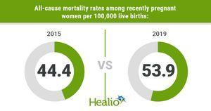 Study shows mortality rates significantly increased among pregnant women from 2015 to 2019