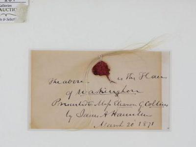 Lock of George Washington's hair brings over $35,000 at auction