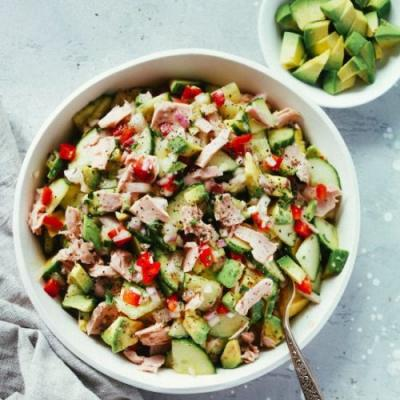 Easy Avocado Cucumber Tuna Salad