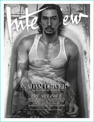 Adam Driver Covers Interview Magazine, Talks Martin Scorsese